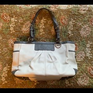 Coach pleated EW Gallery leather tote